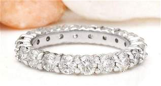 280 CTW Natural Diamond 14K Solid White Gold Ring