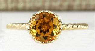 150 CTW Natural Madeira Citrine Ring 14k Solid Yellow