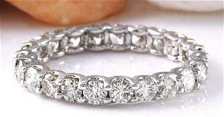 175 CTW Natural Diamond 14K Solid White Gold Ring
