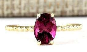 131 CTW Natural Pink Tourmaline Ring In 14k Yellow