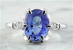 269 CTW Tanzanite 14K White Gold Diamond Ring