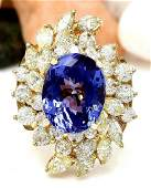 1073 CTW Natural Tanzanite 14K Solid Yellow Gold