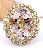 1842 CTW Natural Morganite 18K Solid Yellow Gold