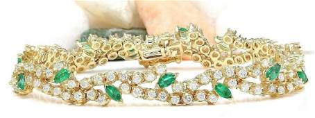800 CTW Natural Emerald 18K Solid Yellow Gold Diamond