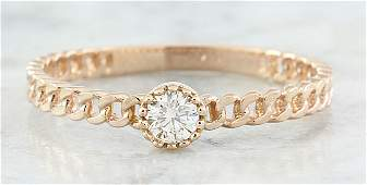 010 CTW Diamond 18K Rose Gold Solitaire Ring