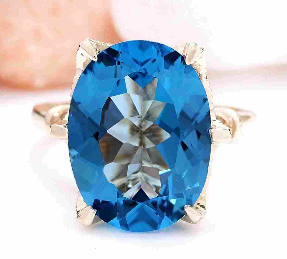 10.62 CTW Natural Topaz 18K Solid Yellow Gold Diamond