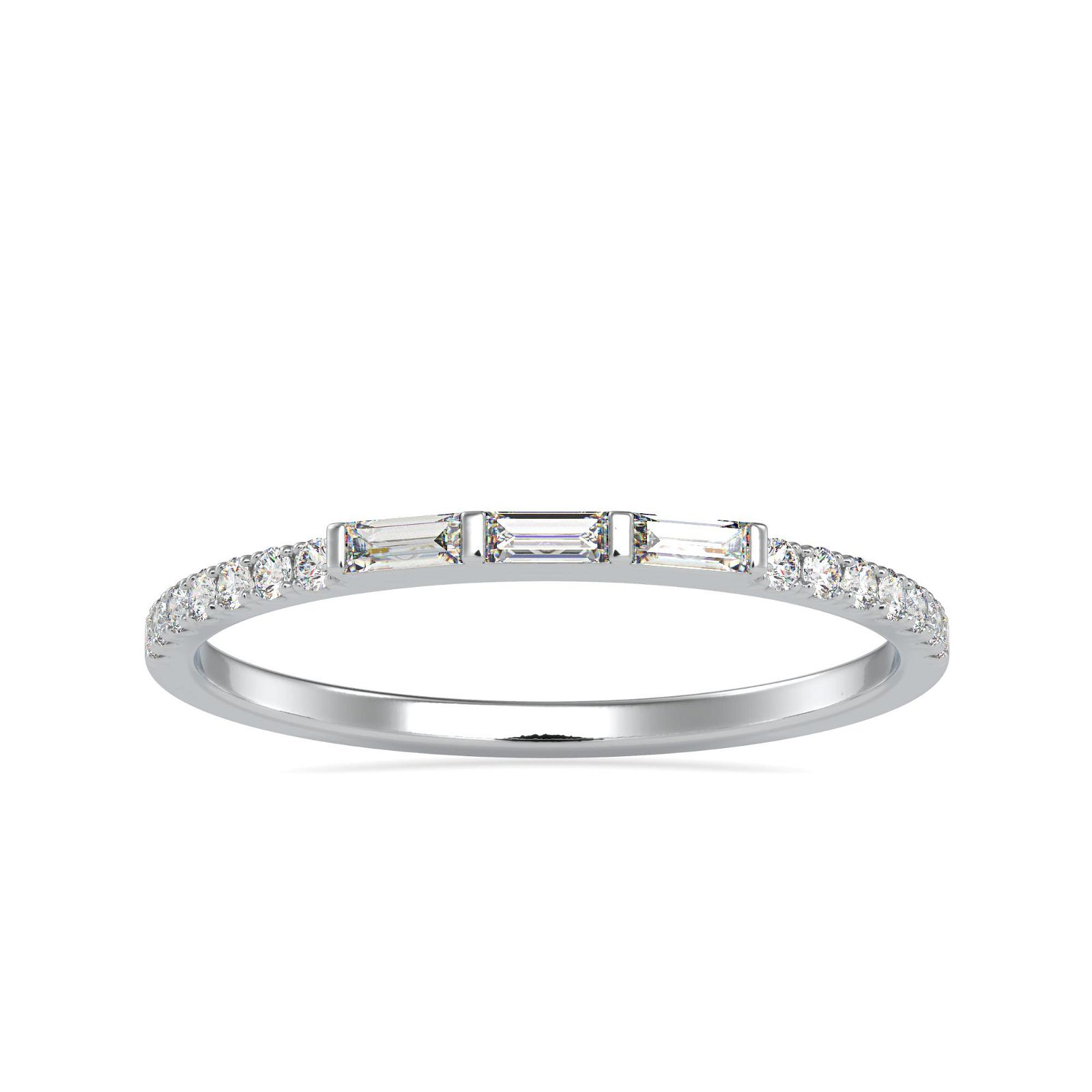 0.19CT Natural Diamond 14K White Gold Ring