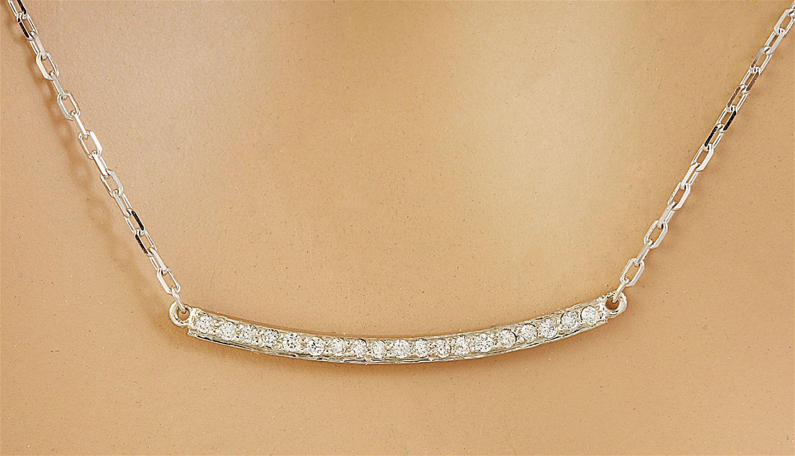 0.20 CTW Diamond 18K White Gold Necklace