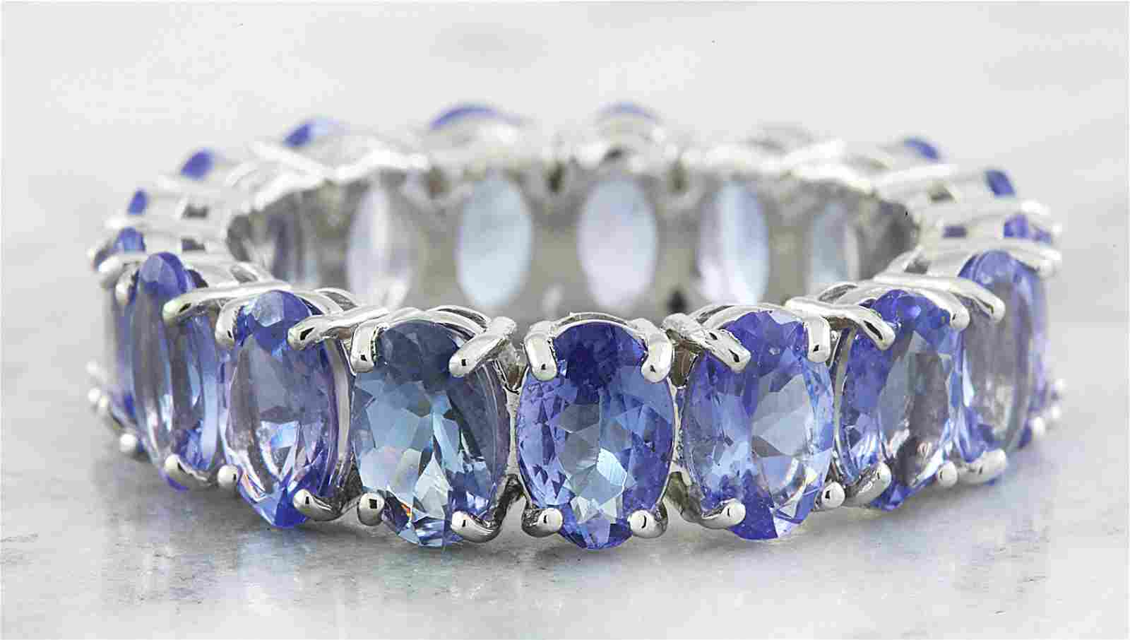 5.78 CTW Tanzanite 14K White Gold Ring