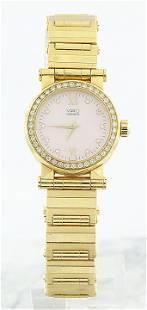 Authentic Movado Vizio 18K Yellow Gold Diamond Watch