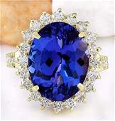 1008 CTW Natural Tanzanite 14K Solid Yellow Gold