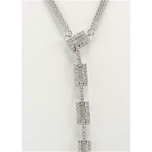 1.04 CTW Natural Diamond Necklace In 14k White Gold