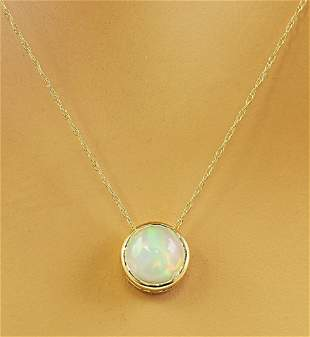 1.50 CTW Opal 14K Yellow Gold Necklace