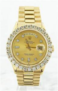 Authentic Rolex Oyster Perpetual Day-Date 18K Yellow