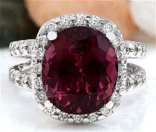 10.16 CTW Natural Tourmaline 14K Solid White Gold