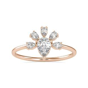 0.63CT Natural Diamond 14K Rose Gold Ring