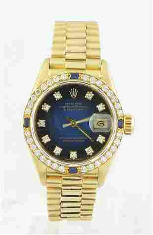 Authentic Rolex Oyster Perpetual Datejust 18K Yellow