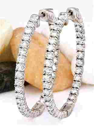 3.00 CTW Natural Diamond 14K Solid White Gold Earrings