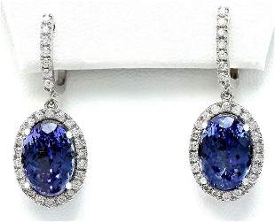 12.30 CTW Natural Tanzanite 14K Solid White Gold
