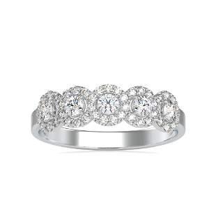 0.45CT Natural Diamond 14K White Gold Ring