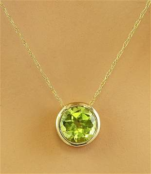 1.50 CTW Peridot 18K Yellow Gold Necklace