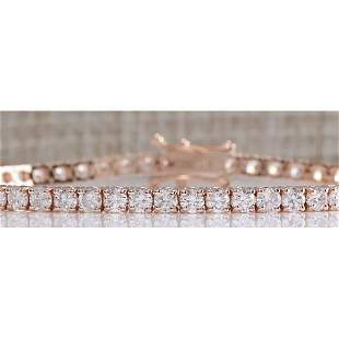4.55CTW Natural Diamond Bracelet In 14K Rose Gold