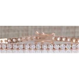 5.10CTW Natural Diamond Bracelet In 18K Gold