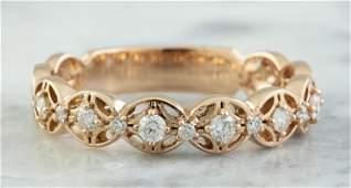 0.25 CTW 14K Rose Gold Diamond Ring