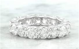 4.10 CTW Diamond 14K White Gold Eternity Ring Band