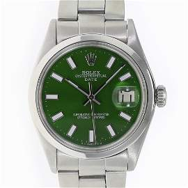 Pre-owned Rolex Mens Date 34mm Oyster Band