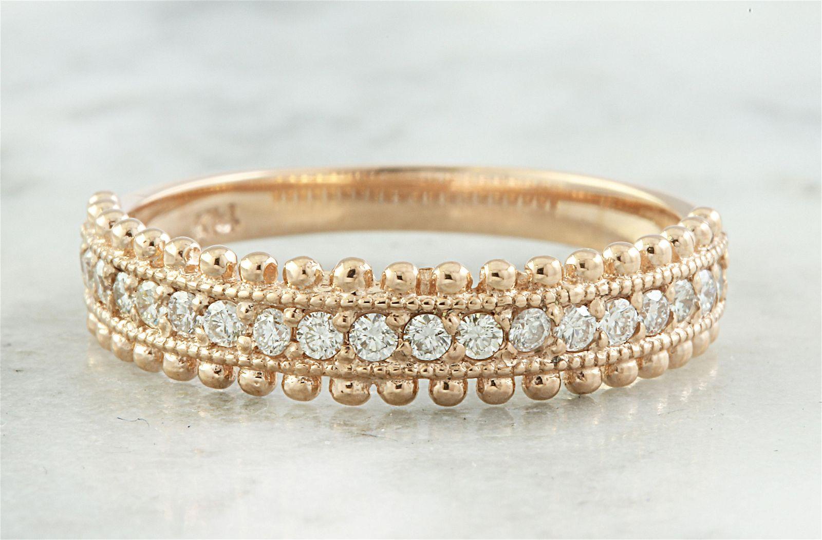 0.28 CTW Diamond 14K Rose Gold Ring