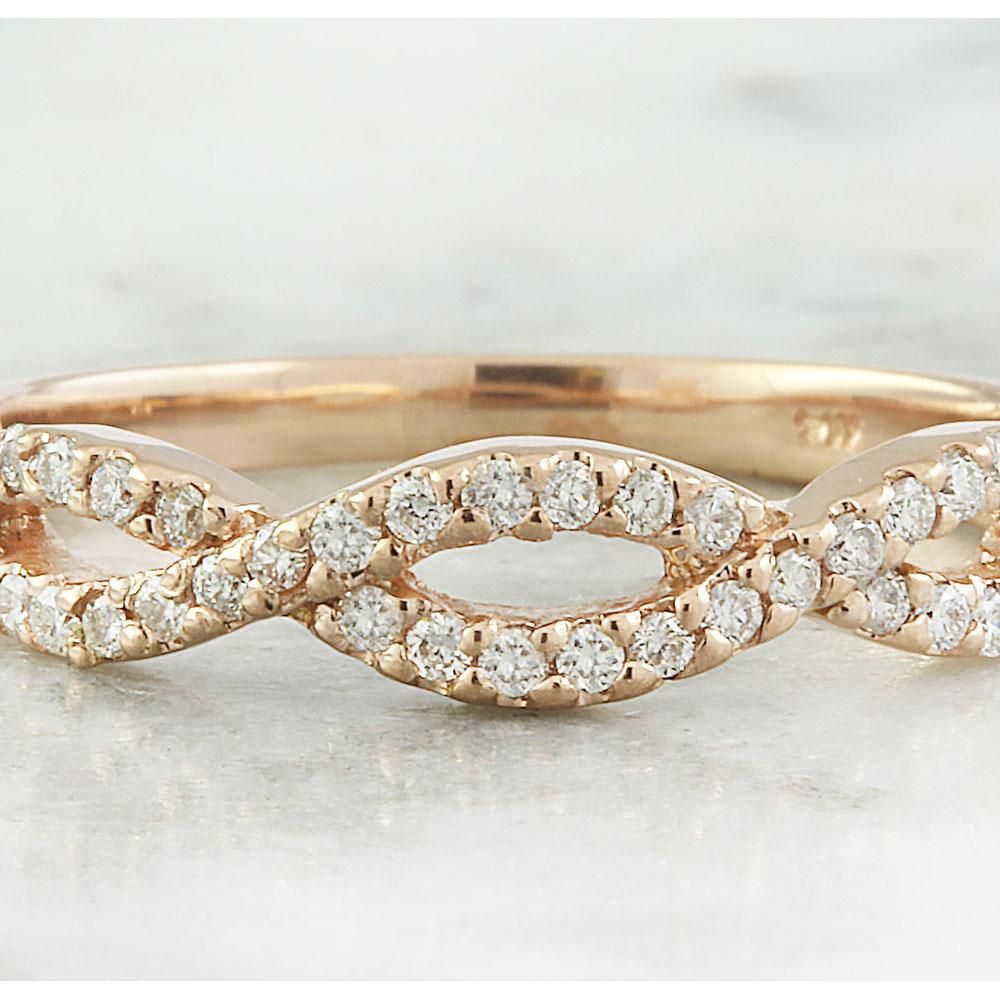 0.35 CTW Diamond 14K Rose Gold Ring