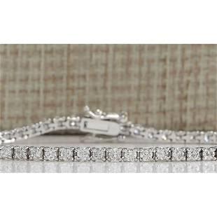 3.55 CTW Natural Diamond Bracelet In 14K Solid White