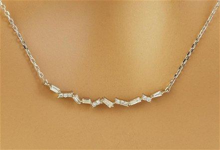 0.45 CTW Diamond 14K White Gold  Necklace