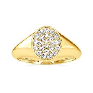 0.25CT Natural Diamond 14K Yellow Gold Ring
