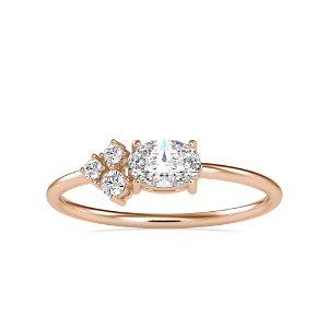 0.44CT Natural Diamond 14K Rose Gold Ring
