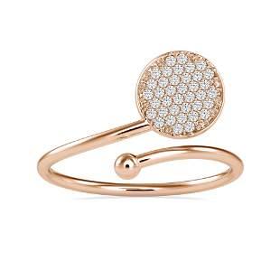 0.14CT Natural Diamond 14K Rose Gold Ring