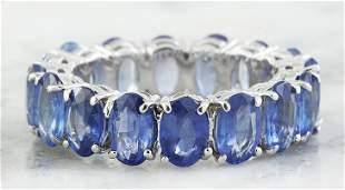 8.08 CTW Sapphire 18K White Gold Ring