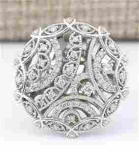 0.51 CTW Natural Diamond Ring In 18K White Gold