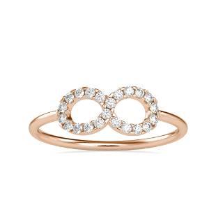 0.18CT Natural Diamond 14K Rose Gold Ring