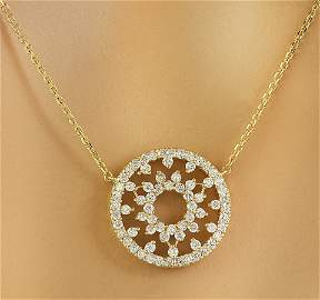 1.00 CTW Diamond 14K Yellow Gold Medallion Pendant