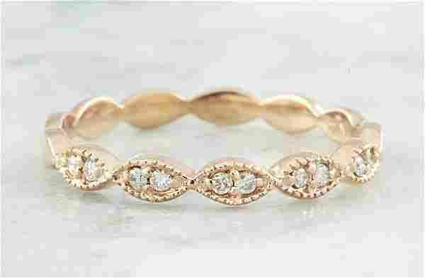 0.15 CTW Diamond 14K Rose Gold Ring