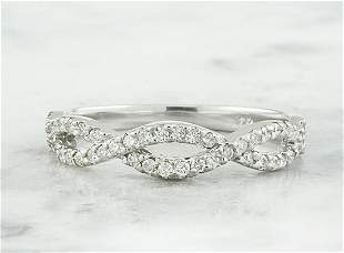 0.35 CTW Diamond 18K White Gold Ring