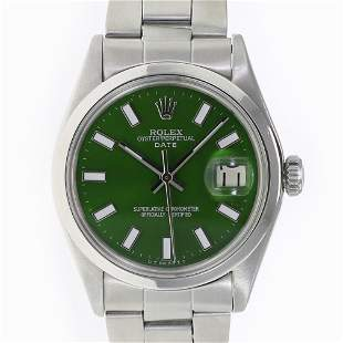 Pre-owned Rolex Date 34mm Oyster Band