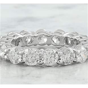 4.90 CTW Diamond 18K White Gold Eternity Ring Band