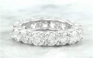 4.10 CTW Diamond 18K White Gold Eternity Ring Band