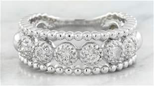 0.50 CTW Diamond 18K White Gold Ring