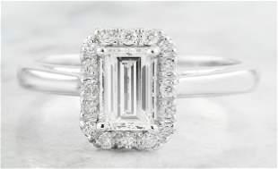 0.84 CTW Diamond 14K White Gold Ring