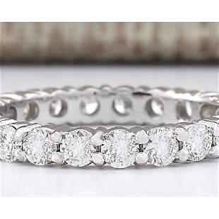 2.00 CTW Natural Diamond Ring In 14k White Gold