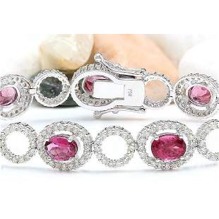 11.77 CTW Natural Tourmaline 18K Solid White Gold